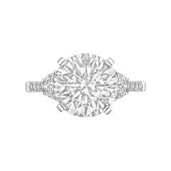 4.03 Carat Round Brilliant Diamond Ring 'D/VS2'