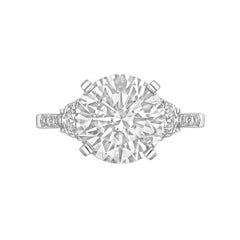 4.03 Carat Round Brilliant Diamond Ring