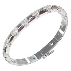 4.05 Carat White Gold Diamond Bracelet