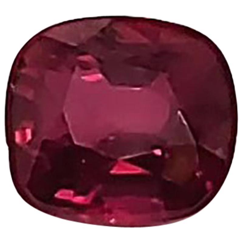 4.06 Carat Unheated Natural Red Ruby Cushion Cut Gem