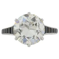 4.07 Carat Old European Diamond K VS1 Edwardian Ring