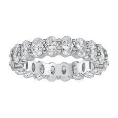 4.09 Carat Oval Cut Diamond Eternity Wedding Band