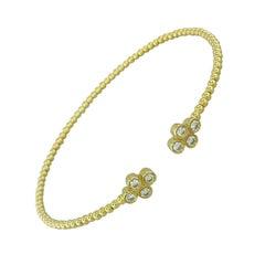 .41 Carat Diamond Fashion Bangle Bracelet in 14 Karat Yellow Gold