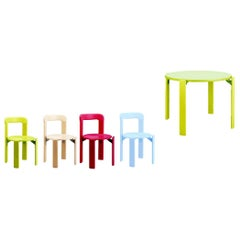 4+1 Rey Junior Children Set, Blue/Green, Bruno Rey 'Design 1971'
