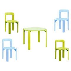 4+1 Rey Junior Children Set, Green/Blue, Bruno Rey 'design 1971', in Stock