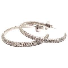 4.10 Carat White Gold Diamond Hoops
