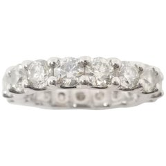4.10 Carat Diamond Eternity Band Platinum