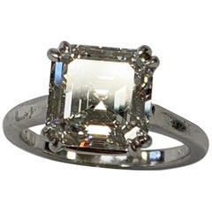 4.11 Asscher Cut Diamond Ring
