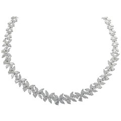 41.25 Carat Diamond Cluster Necklace