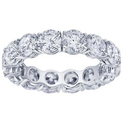 4.13 Carat Round Brilliant Cut Diamond Eternity Band