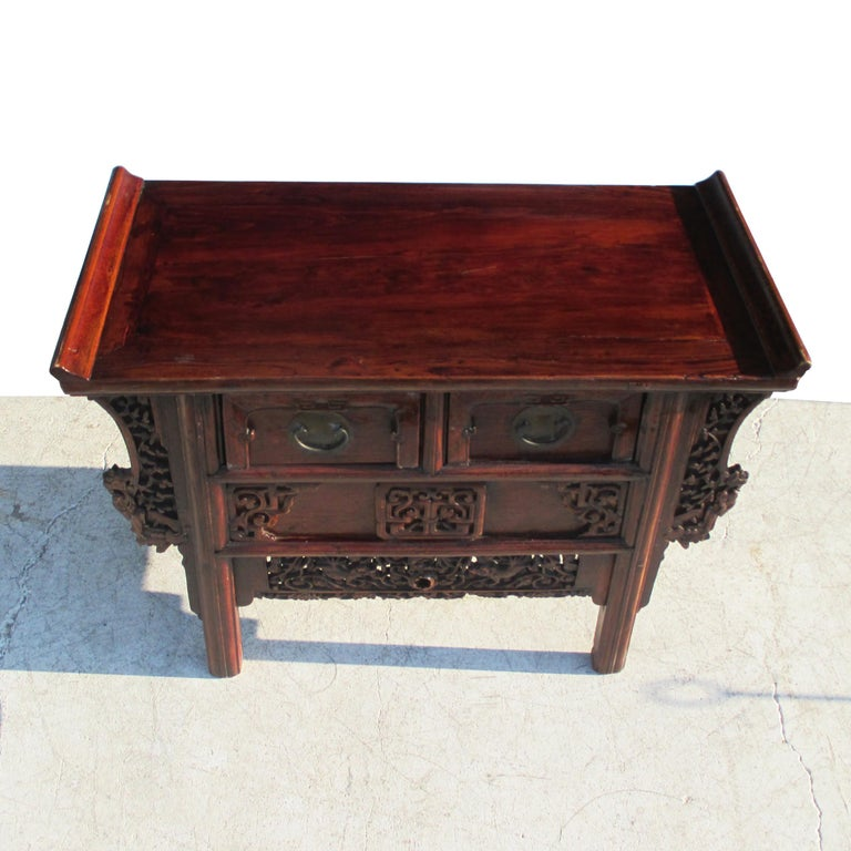 Teak 19th Century Qing Period Chinese Alter Console For Sale