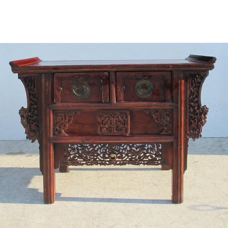 19th Century Qing Period Chinese Alter Console For Sale 2