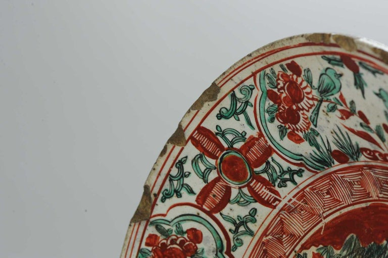 Antique Chinese Porcelain Wanli 16th-17th Century Ming Swatow Large Plate For Sale 9