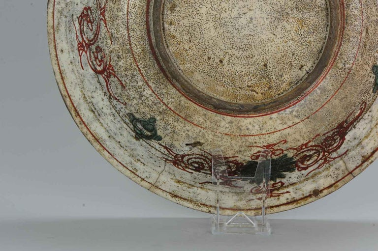 Antique Chinese Porcelain Wanli 16th-17th Century Ming Swatow Large Plate For Sale 10