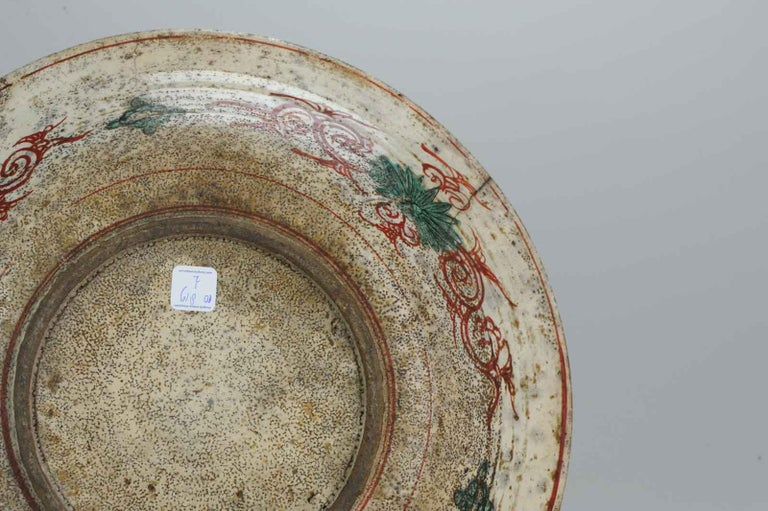 Antique Chinese Porcelain Wanli 16th-17th Century Ming Swatow Large Plate For Sale 12