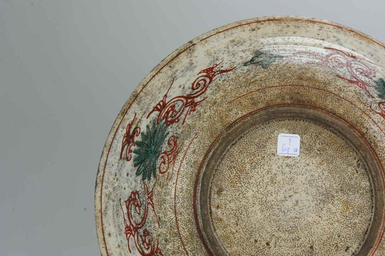 Antique Chinese Porcelain Wanli 16th-17th Century Ming Swatow Large Plate For Sale 13
