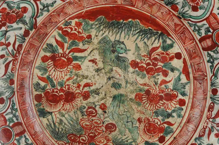 Antique Chinese Porcelain Wanli 16th-17th Century Ming Swatow Large Plate For Sale 5