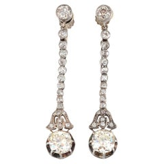 4.16 Ctw Diamond Screw Clip Earrings