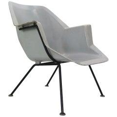 416 Fiberglass Shell Chair by Wim Rietveld & Andre Cordemeyer for Gispen, 1950s