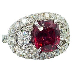 4.19 Carat Raspberry Red Spinel Ring