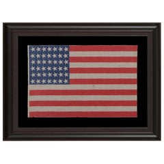 42 Canted Stars on a Washington Statehood Antique American Flag