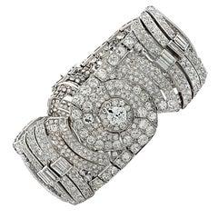 42 Carat Art Deco Diamond Bracelet
