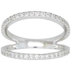 .42 Carat White Diamond Double Band