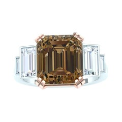 Solitaire, Rare Fancy 2 Ct, GIA Brown Diamond,  White Rose Gold Diamond Ring