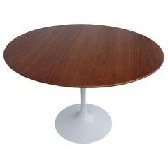 "42"" Knoll Saarinen Walnut Dining Table"