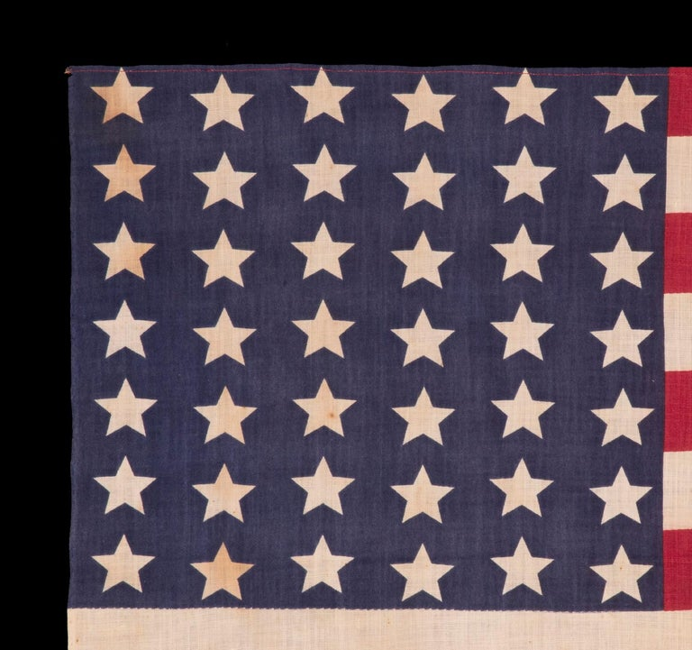 42 Star American Parade Flag, Washington Statehood, circa 1889-1890 In Good Condition For Sale In York County, PA
