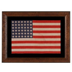 42 Stars, an Unofficial Star Count, on an Antique American Flag