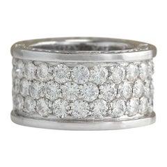 4.20 Carat Diamond 18 Karat White Gold Ring