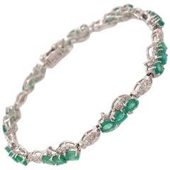 4.21 Carat Emerald Diamond Bracelet