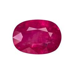 "4.21 Carat Oval Natural Burmese Mogok ""pinkish-red"" GRS Certified Ruby"