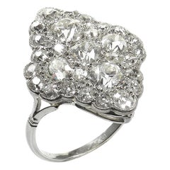 4.23 Carat Diamond Platinum Art Deco Ring, circa 1920