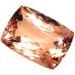 42.49 Carat Peach Morganite Rectangular Cushion, Pendant Enhancer Collector Gem