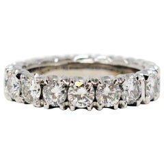 4.25 Carat Total Round Brilliant Diamond Eternity Band Ring in Platinum