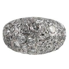 4.26 Carat Diamond Flower Dome Ring