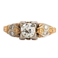 .43 Carat Diamond Yellow Gold Engagement Ring