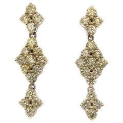 4.35 Carat yellow Diamond Cocktail Earrings