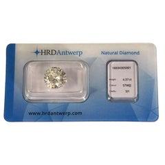 4.37 Carat HRD Certificate White Diamond
