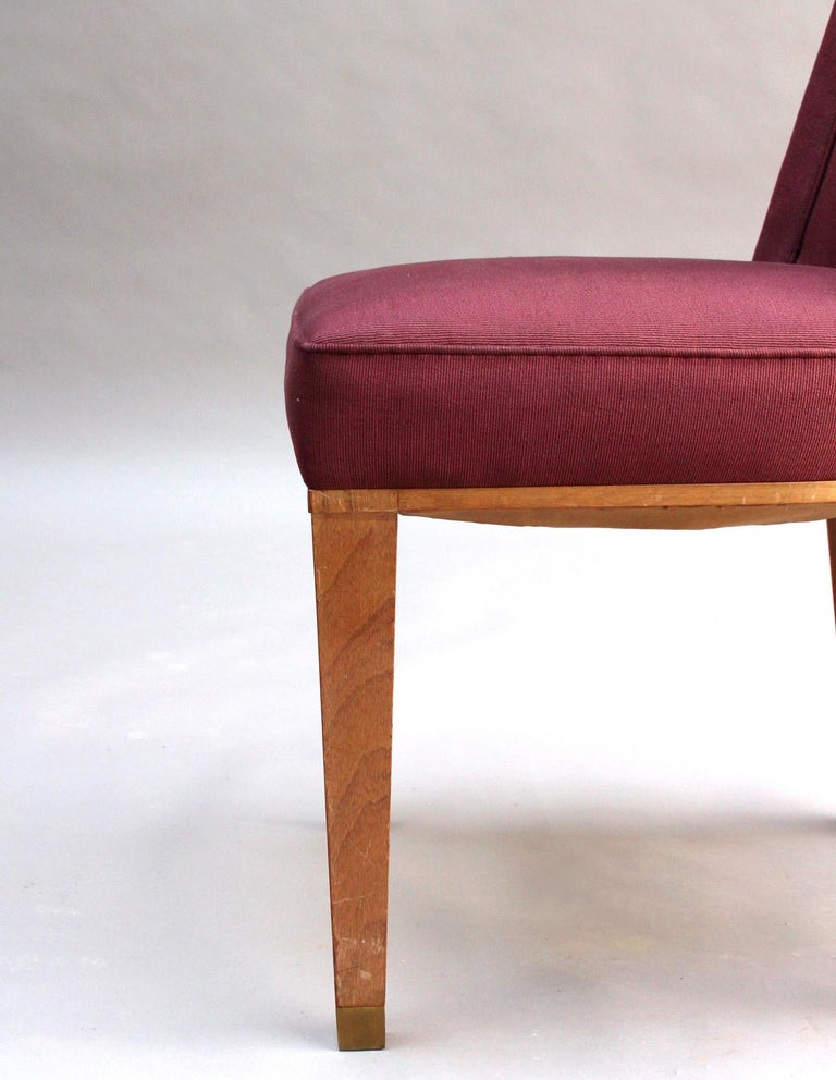 44 Fine French 1950s Dining Chairs by Jacques Adnet For Sale 7