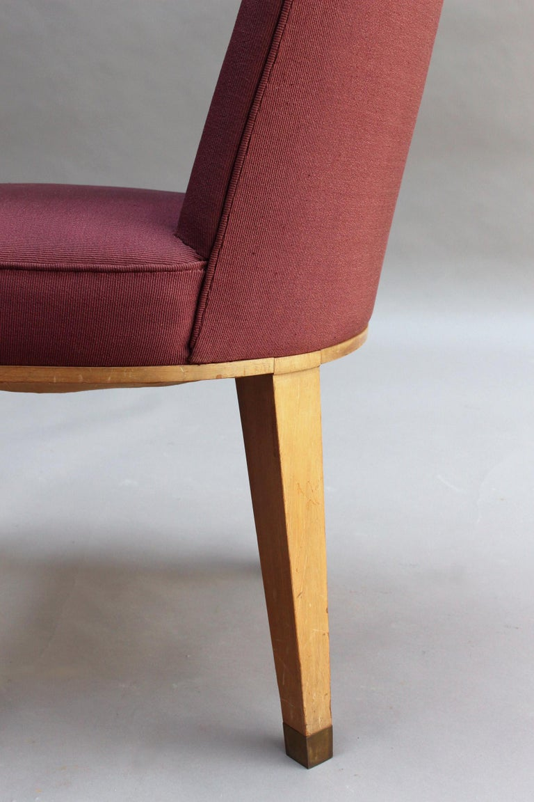 44 Fine French 1950s Dining Chairs by Jacques Adnet For Sale 8