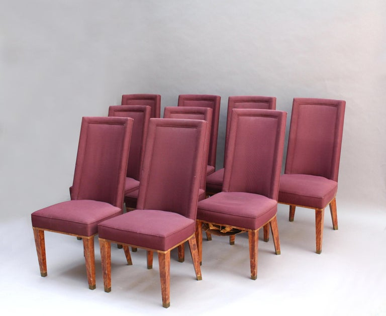 44 Fine French 1950s Dining Chairs by Jacques Adnet For Sale 11