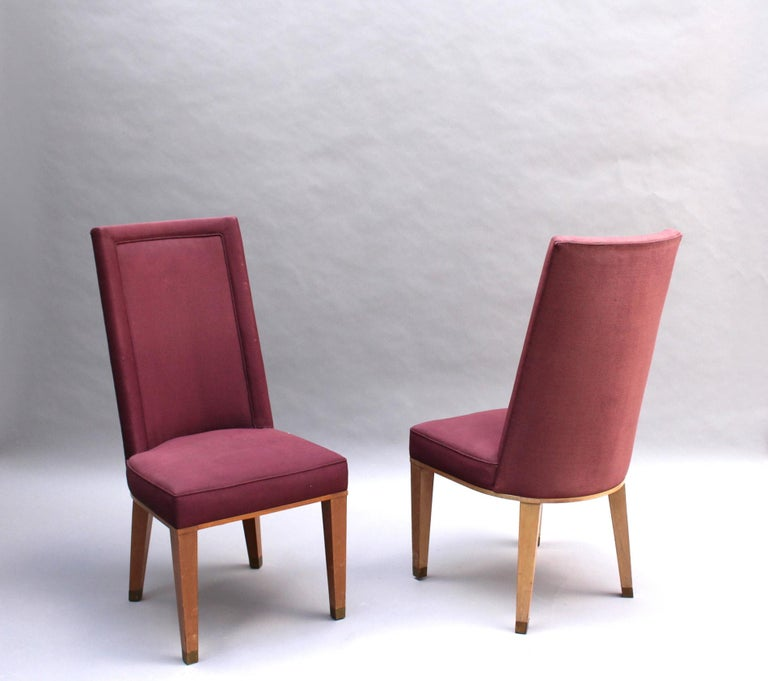 Mid-20th Century 44 Fine French 1950s Dining Chairs by Jacques Adnet For Sale