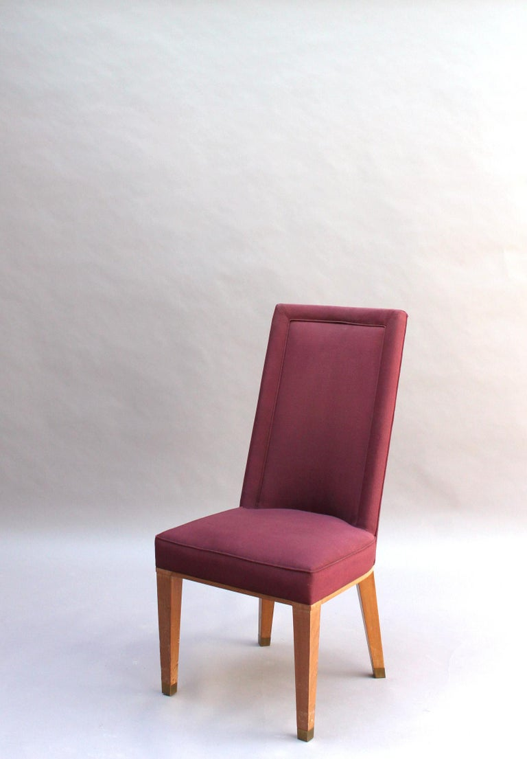 44 Fine French 1950s Dining Chairs by Jacques Adnet For Sale 1