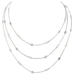 Diamond by the Yard Platinum Link Chain Necklace