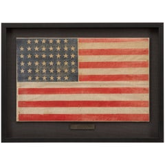 44-Star American Flag, Printed in Drum Star Configuration