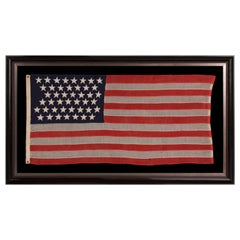 44 Star American Flag, Small Scale Stars, Wyoming Statehood, circa 1890-1896