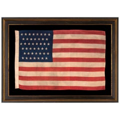 44 Star Antique American Flag on Press-Dyed Wool, Horstmann Company, 1890-1896